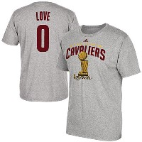 2016 NBAファイナル チャンピオン キャバリアーズ ケビン・ラブ Tシャツ adidas Kevin Love Cleveland Cavaliers Gray 2016 NBA Finals...
