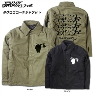 【SALE】PUNK DRUNKERS(パンクドランカーズ)/PDS×KNAVE/タグロゴコーチJKT