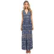 BCBGMAXAZRIA Elyza Printed Sleeveless Long Dress