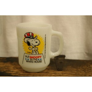 """80's Fire King """"Snoopy President No.3"""" ファイヤーキング"""