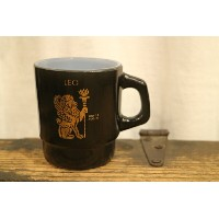 "60's~ Fire King ""Horoscope 9oz.MUG(LEO/PISCES/VIRGO) ファイヤーキング"