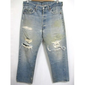 80's Levi's/リーバイス 501 66後期 デニム パンツ 色落ち Made in U.S.A 【W34 L28.5】【ジーンズ】【ヴィンテージ/vintage】【US古着】【中古】...