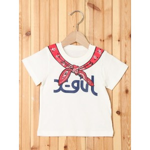【SALE/35%OFF】X-girl Stages S/S TEE BANDANNA(12M~3T) エックスガールステージス カットソー【RBA_S】【RBA_E】【送料無料】