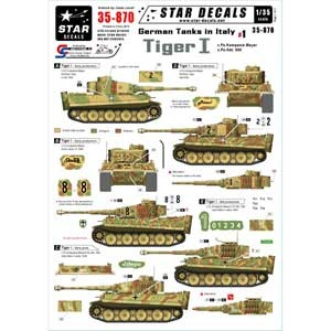 1/35 WWII 独 イタリア戦線#1 マイヤー重戦車中隊/第508 重戦車大隊 デカールセット【SD35-870】 【税込】 STAR DECALS [MS SD35-870 ドイツ...