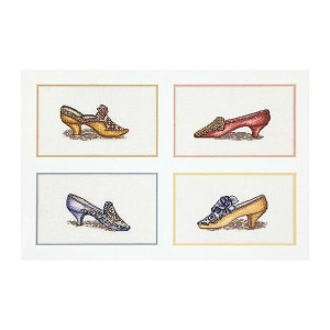 Thea Gouverneur クロスステッチ刺繍キットNo.3023 「Shoes」(シューズ) オランダ テア・グーヴェルヌール 【取り寄せ/納期40〜80日程度】