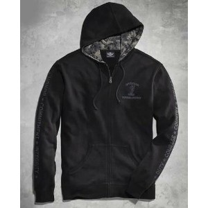 ハーレーダビッドソン Harley Davidson メンズ フリースMen's Harley-Davidson Black Wounded Warrior Project Hoodie 新作...
