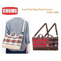 CHUMS チャムス CH60-2086 2way Tote Bag Check Canvas 2ウェイトートバッグチェックキャンバス ※取り寄せ品