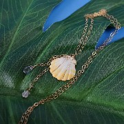 サンライズシェル ネックレスMade In Hawaii Maui, Handmade with AlohaHana Line Desings※在庫限り!