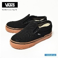 VANS KIDSバンズ キッズ【VN000ZCRGE1】TODDLER CLASSIC SLIP-ON(Gumsole) Black/Classic Gumバンズ キッズ クラシック スリッポン幼...