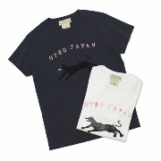 S/S 新作 REMI RELIEF ( レミレリーフ ) / HYOU JAPAN ロングウォッシュ加工 Tシャツ【ホワイト/ネイビー】【送料無料】