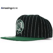MITCHELL&NESS BOSTON CELTICS 【PINSTRIPE 2T TEAM-BASIC SNAPBACK/BLK-GRN】 ミッチェル&ネス ボストン セルティックス...