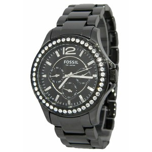 FOSSIL[フォッシル] ce1011 Women'sCERAMIC BLACK MULTIFUNCTION DIAL 腕時計