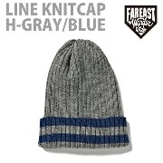 FEW-14AW-0708 LINE KNITCAP H-GRAY/BLUE