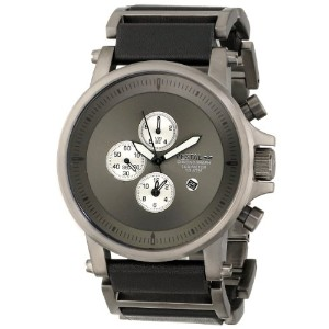ベスタル 時計 メンズ 腕時計 Vestal Men's PLE033 Plexi Gunmetal and Black Leather Watch