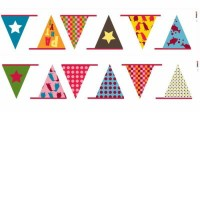 RoomMates ウォールステッカー Kid'sLAB Colorful Party Banner HS60022
