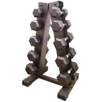 CAP Barbell 200 lb Coated Dumbbell Set with A Frame Rack
