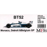 BT52 Monaco,Detroit&BelgiumGP【1/20 K-283 Full detail kit】
