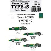 Team LOTUS TYPE49 Early type【1/43 K-341Multi-Material kit】