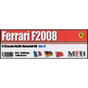 Ferrari F2008 Rd.8 French GP / Rd.10 German GP/ Rd.17 Chinese GP 【1/12 K-421 Ver.B Multi-Material...