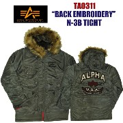 "【5%OFF!送料無料!】ALPHA アルファTA0311-076""BACK EMBROIDERY"" N-3B TIGHT タイト"