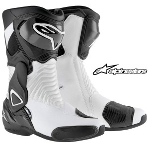alpinestars S-MX6 BOOT 2223014 レーシングブーツ (BLACK WHITE)