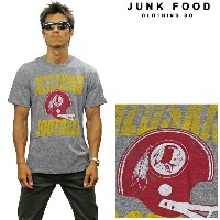 JUNKFOOD ジャンクフード 半袖Tシャツ 《NFL Collection》WASHINGTON REDSKINS n8040-7780