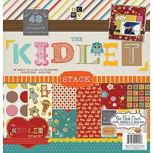 Die Cuts with a View (DCWV) ペーパースタック 12x12インチ The Kidlet (48枚入)