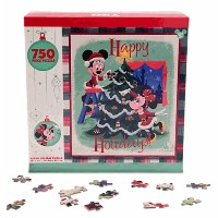 Disney(ディズニー)Mickey and Minnie Mouse Retro Holiday Puzzleミッキー・ミニーマウスのパズル(750ピース)