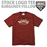 FEW-14AW-0511 STOCK LOGO T-SHIRTS BURGUNDY/YELLOW