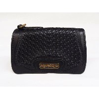 KUSTOMSTYLE x AWAKE MIDDLE SIZE BASKET WEAVE WALLET BLACK