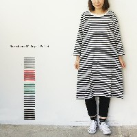 【TIMESALE30%OFF】Neu-tral wear life Original Product (ニュートラルウェアライフ オリジナルプロダクト)ボーダー7分袖ワンピース再入荷】...