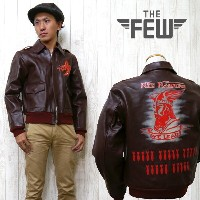 """THE FEW ザ・フュー レザー フライトジャケット A-2 """"RED RAIDERS"""" A-2 ハンドペイント AERO CLOTHING CO.Contract No. AC 21996..."""