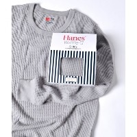 Hanes×SHIPS AUTHENTIC PRODUCTS: ワッフル ロングスリーブ Tシャツ【シップス/SHIPS Tシャツ・カットソー】