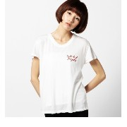 (BRANDY&MELVILLE)MCH632-31S162E230A62 T-SHIRT CUTE BUT PCHYC【ローズバッド/ROSEBUD Tシャツ・カットソー】