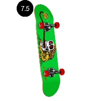 【POWELL PERALTA パウエル・ペラルタ】7.5in x 28.65in FROG SKULL GREEN COMPLETE ASSEMBLYコンプリートデッキ(完成組立品)スケートボード...