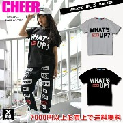 【60%OFF】tシャツ ダンス hiphop キッズ 衣装 Tシャツ 黒 半袖 what's up BIG TEE CHEER cheer チアー CX63327 【 領収書発行可 】...