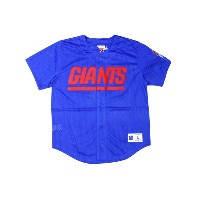 MITCHELL&NESS MESH BUTTON FRONT JERSEY (NEW YORK GIANTS: BLUE)ミッチェル&ネス/メッシュベースボールジャージ/青