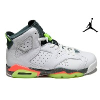 NIKE AIR JORDAN 6 RETRO BG 384665-114 WHITE/GHOST GREEN-HASTA-BRIGHT MANGOナイキ エアジョーダン 6 レトロ レディース...