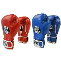 Cleto Reyes 10 oz Amateur Hook & Loop Boxing グローブ セット - レッド/ホワイト & ブルー/ホワイト (海外取寄せ品)