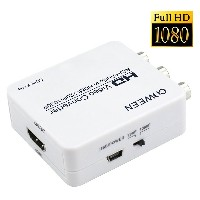 1080p対応 AV2HDMI コンバーター Full HD RCA AV to HDMI 変換 端子 CVBS 3RCA to HDMI コンポジット USBケーブル付き UP Scaler 1080P...