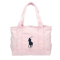POLO RALPH LAUREN ポロ ラルフローレン トートバッグ 950189 PINK/NAVY PP SCHOOL TOTE MD
