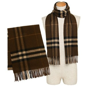 バーバリー マフラー BURBERRY 3994308 2065B GIANT CHECK CASHMERE SCARF カシミア100% 30×168cm OAK BROWN