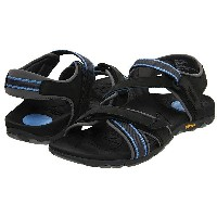 バイオニック レディース サンダル シューズ Muir Vionic Sport Recovery Adjustable Sandal Dark Charcoal/Blue