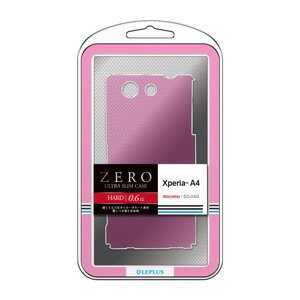 LP-SO04GHTCPK【税込】 MS Products Xperia A4 SO-04G用 極薄ハードケース「ZERO HARD」 クリアピンク LEPLUS(ルプラス) [LPSO04GHTCP...