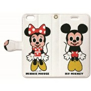 NTMM-BKI6-003【税込】 Collaborn Phone6s/6用 Folio 手帳型ケース(Mickey & Minnie 001) Disney × collaborn ...