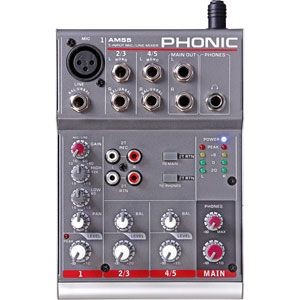 AM55(PHONIC)【税込】 フォニック コンパクトミキサー PHONIC 1-Mic/Line 2-Stereo Compact Mixer AM55 [AM55PHONIC]【返品種別A】...