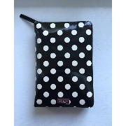kate spade/ケイトスペード 2017年最新システム手帳 Carlisle Street Patent Black with Cream Polka Dot Leather zip...