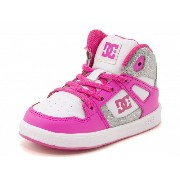 DC SHOE(ディーシーシュー) TODDLERS REBOUND HIGH SE UL(トドラーズリバウンドハイSEUL) ADTS700037 WPN ホワイト/ピンク 【dl】asbee