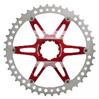 (FOURIERS/フォーリアーズ)(自転車用スプロケット/チェーン関連)MTB スプロケット40T レッド (DX008-SK-403)