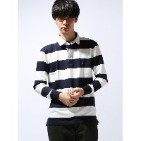 TOMMY HILFIGER (M)AS BASIC BLOCK STP RUGBY L/S VF トミーヒルフィガー【送料無料】